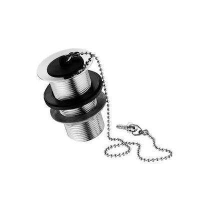 "Ideal Standard Waste With Bead Chain And Plug Unslotted Tail And Screw Stay 1.1/4"" Chrome Plated"