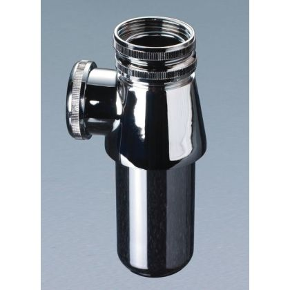 "Wirquin 32mm (1.1/4"") Chrome Plated Bottle Trap"