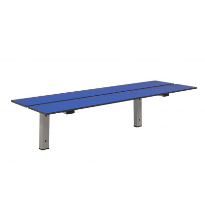 Wall Mounted Bench Seat with Cantilever Bracket and SGL Slats