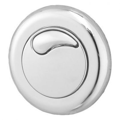 Twyford Small Dual Flush Air Operated Push Button (Chrome Plated)
