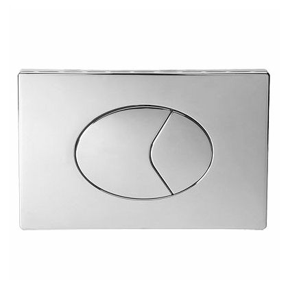 Twyford Large Flush Plate - Dual Flush Air Operated Push Flushplate (Chrome Plated)