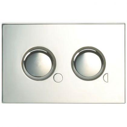 Twyford Mini Plate - Dual Flush Air Operated Push Flushplate (Chrome Plated)