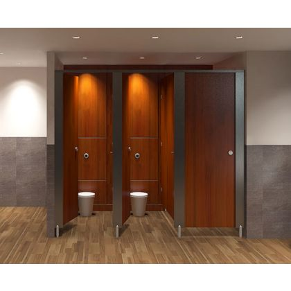 City MFC Toilet Cubicles - 5 Wall Angle
