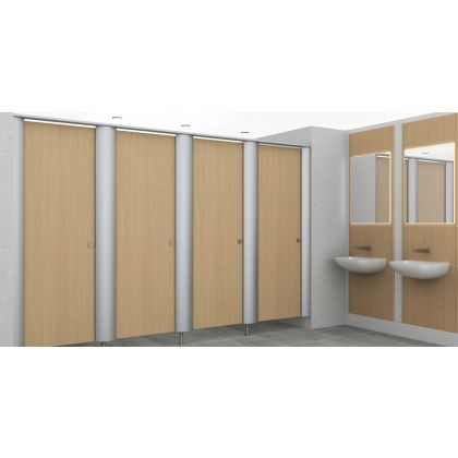 City HPL / MFC Toilet Cubicles with Metal Pilasters