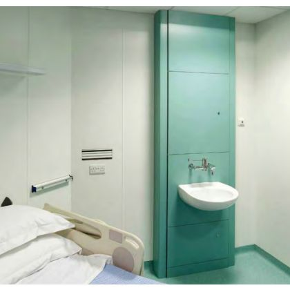 Clinical Wash Basin IPS Duct Module (SGL) with Armitage Shanks Sanitaryware