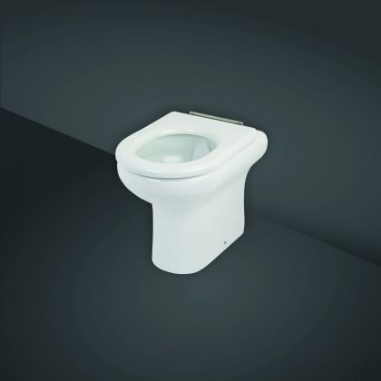 RAK-Compact Special Needs 42.5cm High Rimless Back to Wall Toilet Pan Only | Commercial Washrooms