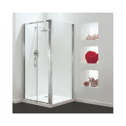800 x 1900mm Coram Premier Pivot Glass Shower Screen Door