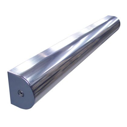 D-Channel Headrail - Polished Aluminium (3.5m)
