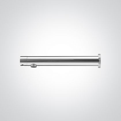Polished Chrome 220mm Panel Mounted Infrared Sensor Tap - Battery Operated