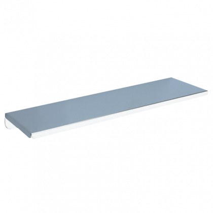 Delabie Wall Mounted Shelf - Bright Polished Stainless Steel