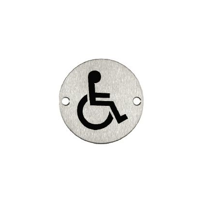 Disabled Toilet Sign - Stainless Steel