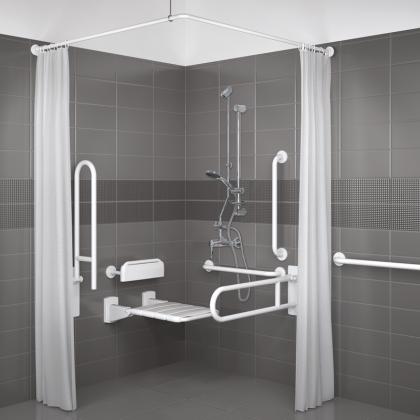 Delabie Exposed Valve Doc M Disabled Shower Pack