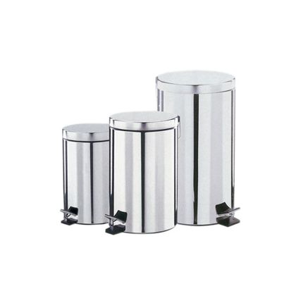 Dolphin Polished Stainless Steel Pedal Bin