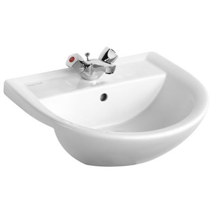 Armitage Shanks Sandringham 21 50cm Semi-Countertop Washbasin with 1 Taphole and Overflow | Commercial Washrooms