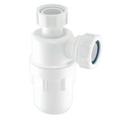 "N&C White Plastic Bottle Trap 32mm (1.1/4"")"