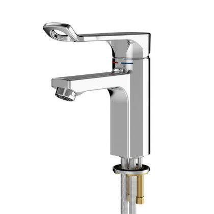 Franke F5L Lever Pillar Mixer Tap For Accessible Washing Facilities