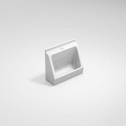 White GRP Single User Urinal Trough