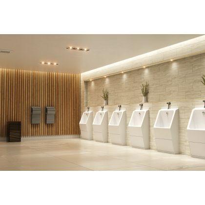 White GRP Single User Floor Standing Urinal Trough