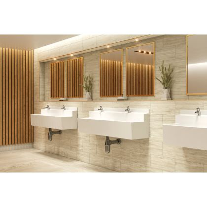 Two User White GRP Wall Mounted Wash Trough