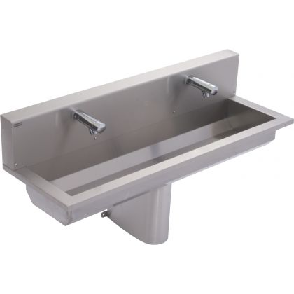 Franke 2 Users Stainless Steel Wash Trough with Rear Splashback (SANX120SB)