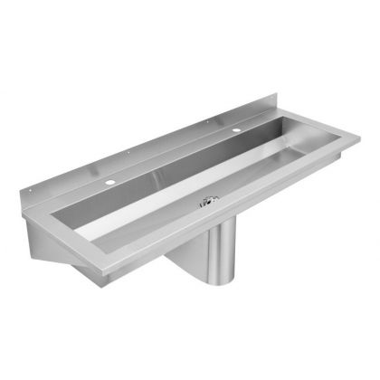 Franke 2 Users Stainless Steel Wash Trough with Tap Ledge (SANX120)