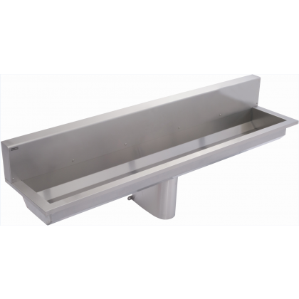 Franke 3 Users Stainless Steel Wash Trough with Rear Splashback