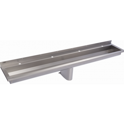 Franke 4 Users Stainless Steel Wash Trough with Tap Ledge (SANX240)