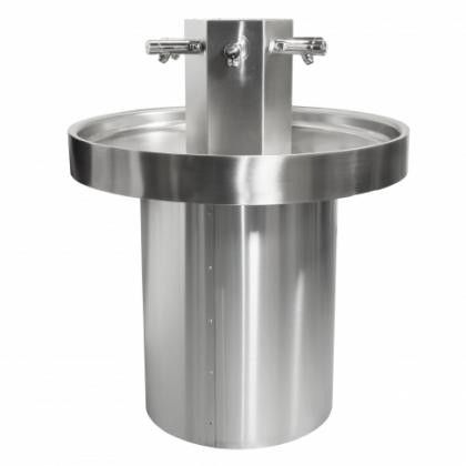 Franke Six Person Stainless Steel Circular  Washtrough - Non-Concussive Taps SANX600