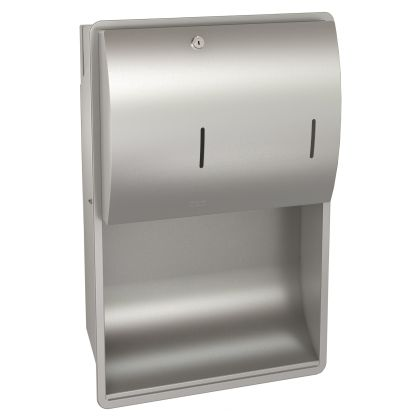 Franke Stratos Recessed Wall Mounted Paper Towel and Soap Dispenser Combination Unit