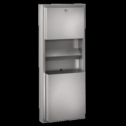 Franke Wall Mounted Waste Bin, Paper Towel, Soap Dispenser Combination Unit Stainless Steel