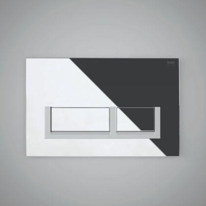 RAK-Ecofix Square Chrome Toilet Cistern Dual Flush Plate