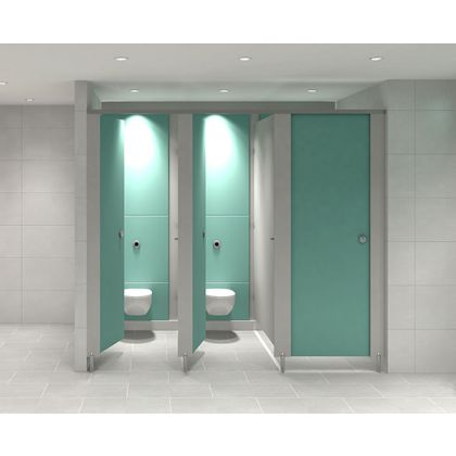 Future HPL Toilet Cubicle Range - 2 Wall Angle