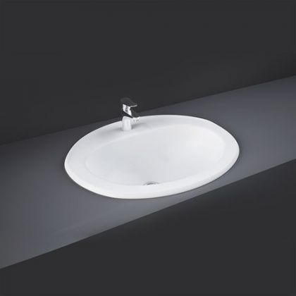 RAK-Mira 56cm Over Counter Wash Basin with 1 Taphole   Commercial Washrooms