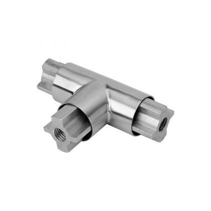 Glass Cubicle Headrail T-Section Joint