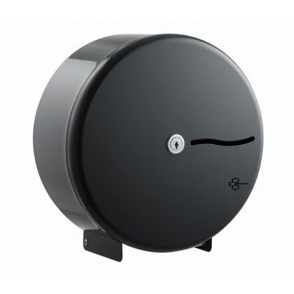 """Graphite Grey Stainless Steel Mini Jumbo Toilet Roll Dispenser - 10"""" Roll"""