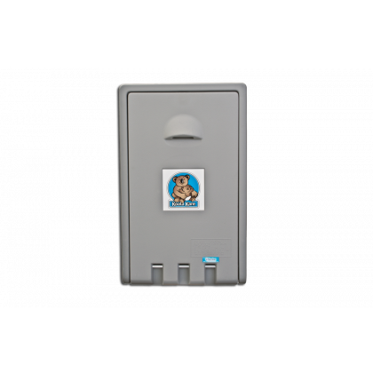 Koala Kare Vertical Wall Mounted Baby Changing Station | Grey | Commercial Washrooms