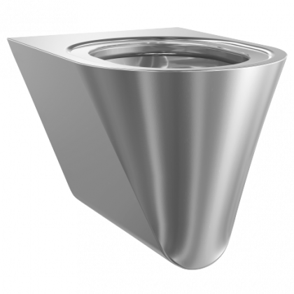 Franke Campus Wall Hung Stainless Steel Toilet