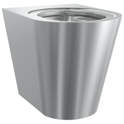 Franke Campus Back to Wall Stainless Steel Toilet