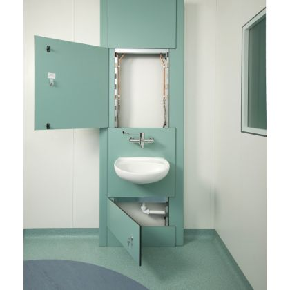 Healthcare Twyford Clinical Wash Basin Duct Module SGL - 1 Return End