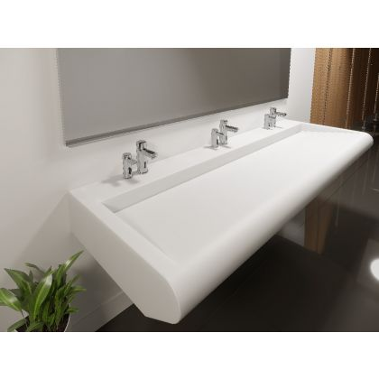 Convex Solid Surface Wash Trough