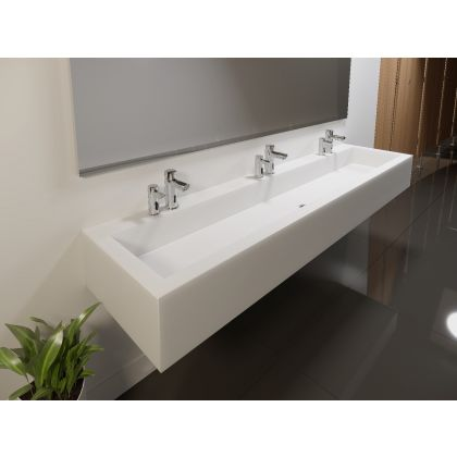 Box Solid Surface Wash Trough