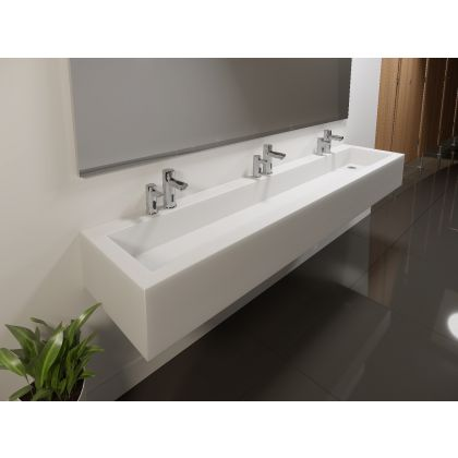 Sloping Solid Surface Wash Trough