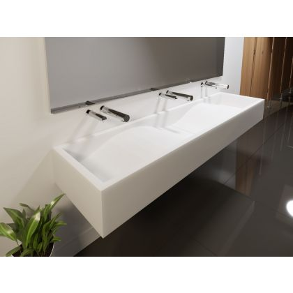 Wave Solid Surface Wash Trough
