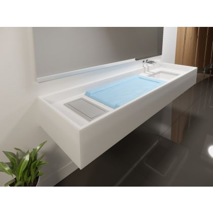 Solid Surface Baby Changing Station