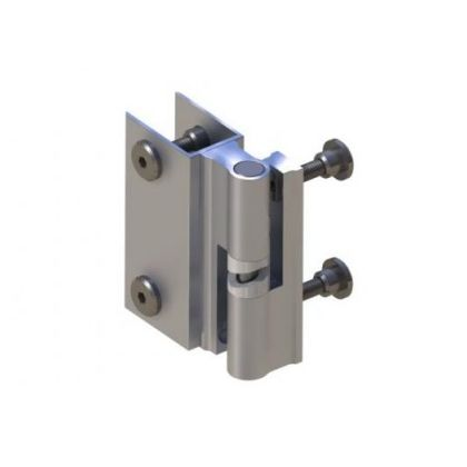 Impact Resistant Rise and Fall Toilet Cubicle Hinge (Pair) 12-13mm