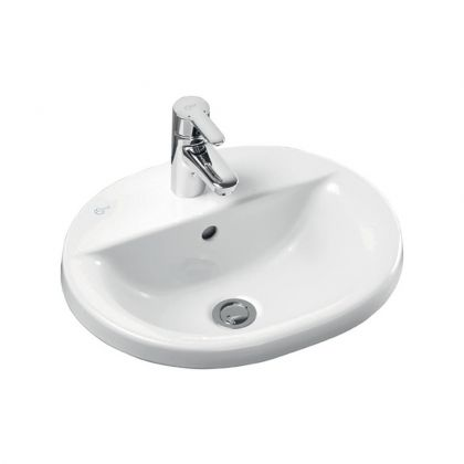 48/55cm Ideal Standard Concept Oval Countertop Washbasin with One Taphole