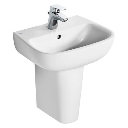 Ideal Standard Studio Echo 45cm Handrise Basin with 1 Taphole and Overflow | Commercial Washrooms