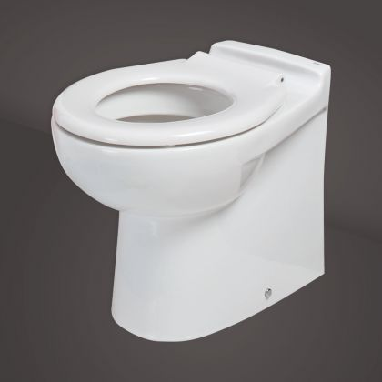 RAK-Junior Back to Wall Toilet with Seat | Commercial Washrooms