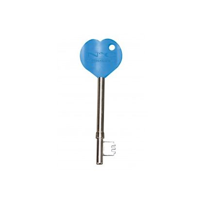 RADAR Key with Blue Heart Handle | Commercial Washrooms