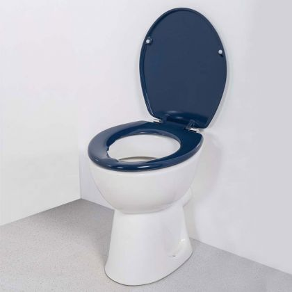 NymaPRO Toilet Seat with lid (dark blue) | Commercial Washrooms
